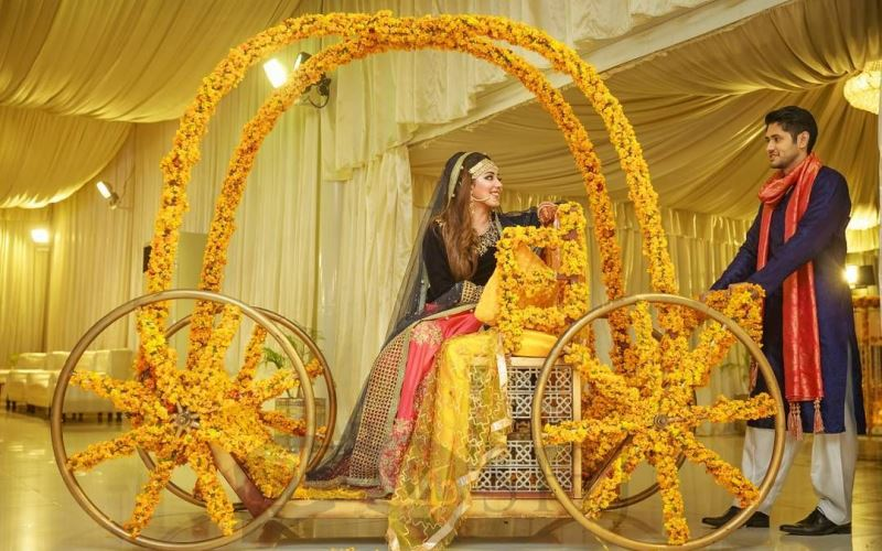 Bride Grand Entry Ideas in Mehndi Functions