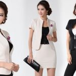 Elegant Black and White Office Looks for Professional Ladies